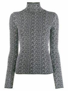 Versace Chevron knitted jumper - Black