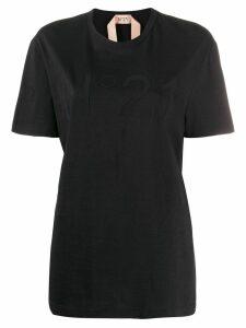 Nº21 logo patch T-shirt - Black