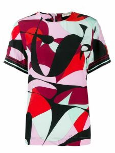 Emilio Pucci shortsleeved printed blouse - Black