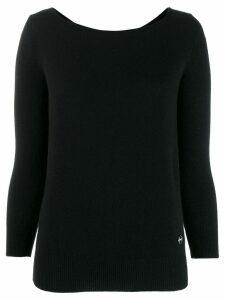 Emilio Pucci boat neck cashmere jumper - Black