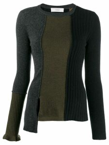 Pringle of Scotland colour-block fitted sweater - Black
