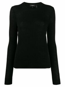 Theory round neck jumper - Black
