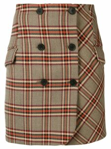 Derek Lam 10 Crosby plaid mini skirt - Brown