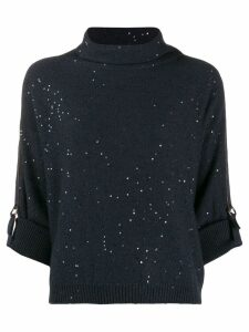 Brunello Cucinelli embellished knit sweater - Blue