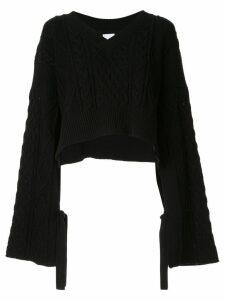 Maison Mihara Yasuhiro cropped jumper - Black