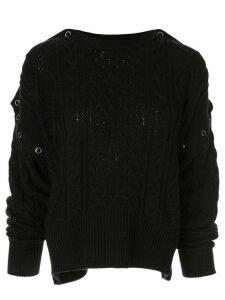 Maison Mihara Yasuhiro cable knit slouchy jumper - Black