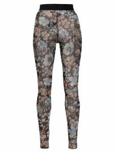 Baum Und Pferdgarten floral print sheer leggings - Black