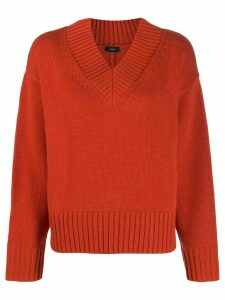 Joseph v-neck luxe jumper - ORANGE