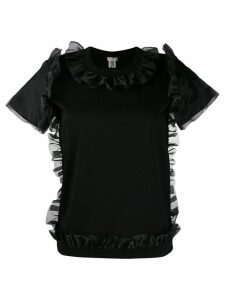 Comme Des Garçons Noir Kei Ninomiya frill-trim blouse - Black