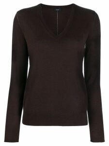 Joseph v-neck jumper - Brown
