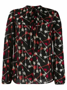 RedValentino RED(V) printed arrows blouse - Black