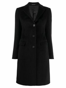 Tagliatore single-breasted fitted coat - Black