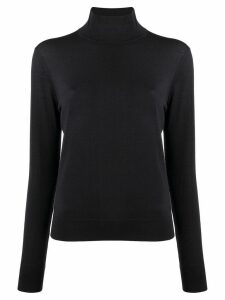 Theory roll-neck fitted sweater - Blue