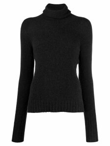 Nuur roll-neck fitted sweater - Black