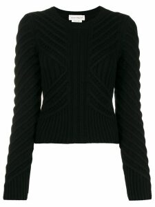 Alexander McQueen chevron knitted jumper - Black