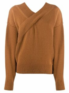 Each X Other criss-cross jumper - Brown