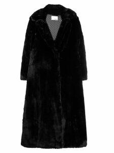 Each X Other oversized vegan mink coat - Black