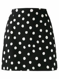 Saint Laurent polka dot skirt - Black