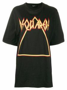 Dsquared2 logo print oversized T-shirt - Black
