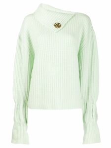 JW Anderson asymmetric collar sweater - Green