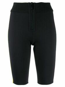 M Missoni zip front cycling shorts - Black
