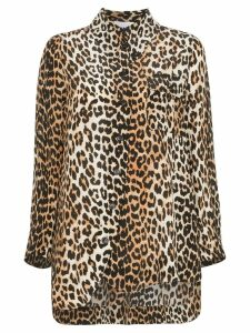 GANNI leopard print shirt - Brown