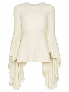 Giambattista Valli ruffle sleeve blouse - White