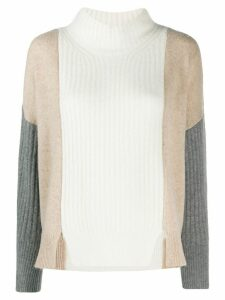 Max & Moi colour-block knit sweater - White
