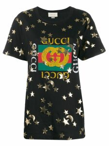 Gucci stars printed T-shirt - Black