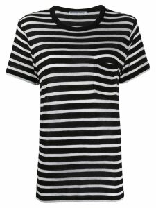 T By Alexander Wang striped T-shirt - Black