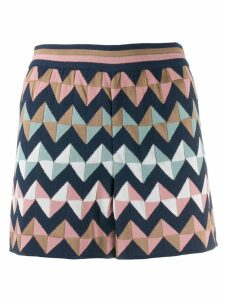 M Missoni geometric print shorts - Blue