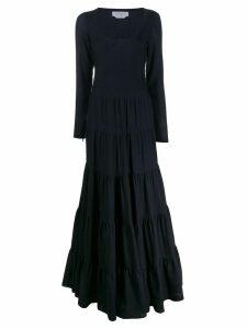 Gabriela Hearst long-sleeve flared dress - Blue