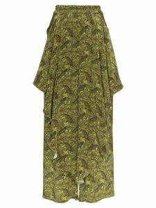 By Walid ruffle wide-leg trousers - Green