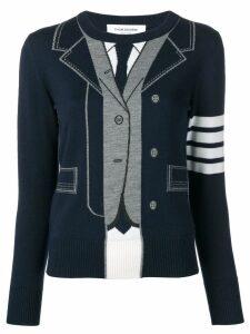 Thom Browne Trompe L'oeil Tb Suit Pullover - Blue