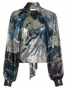 GANNI sequin-embellished blouse - 999 MULTICOLOURED