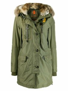 Parajumpers fur trim hood parka - Green