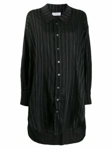 Faith Connexion long striped shirt - Black