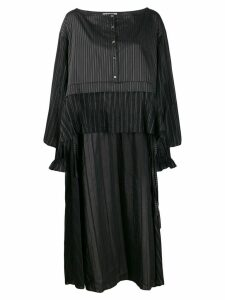 Faith Connexion deconstructed striped shirt - Black