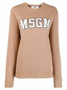 MSGM logo print sweatshirt - Neutrals