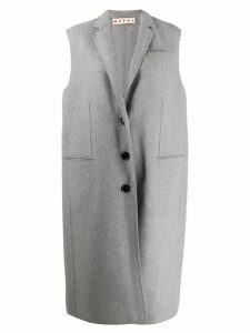 Marni sleeveless overcoat - Grey