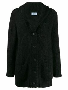 Prada shawl collar cardigan - Black