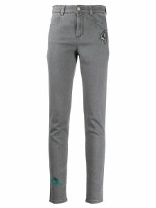 Stella McCartney embroidered skinny jeans - Grey