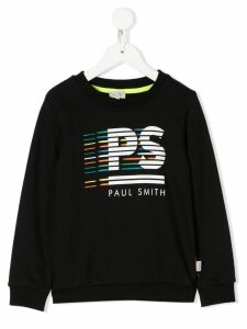 Paul Smith Junior logo print sweatshirt - Black