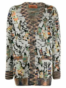 Missoni loose-fit patterned cardigan - White