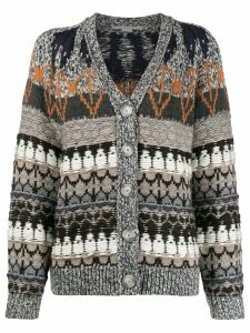 Stella McCartney knitted patterned cardigan - Grey