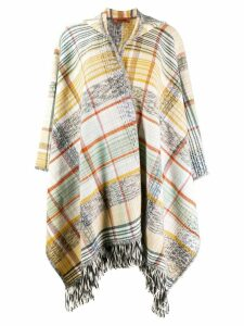 Missoni checked poncho cardigan - Yellow