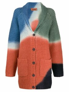 Missoni oversized patterned cardigan - ORANGE