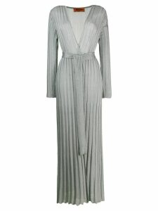 Missoni long ribbed cardigan - SILVER