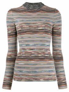 Missoni ribbed design jumper - White