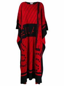 Stella McCartney logo print midi poncho - Red